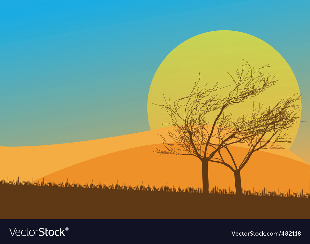 Autumn countryside vector | Price: 1 Credit (USD $1)