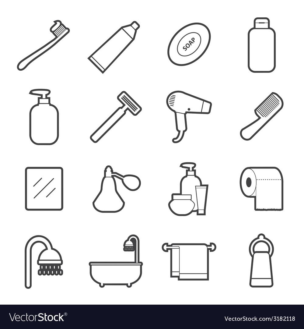 Bathroom icon vector | Price: 1 Credit (USD $1)