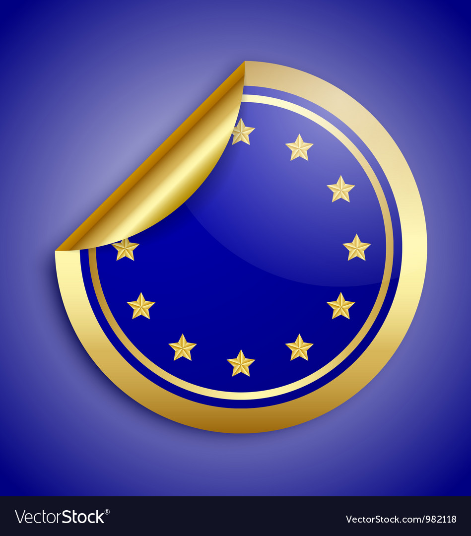 Europe union sticker vector | Price: 1 Credit (USD $1)