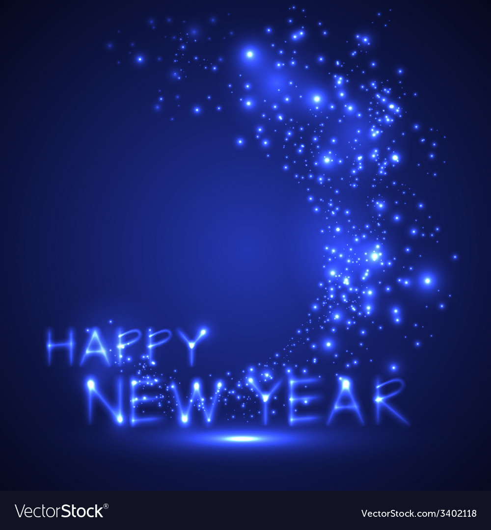 Happy new year holiday sparkling background vector | Price: 1 Credit (USD $1)