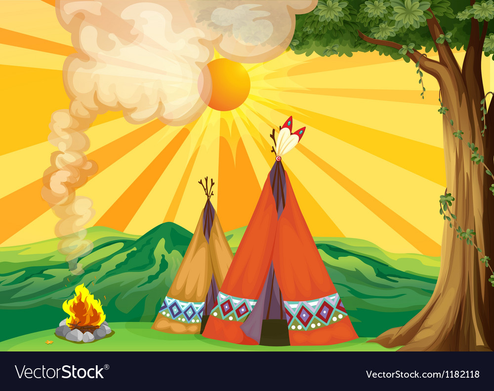 Indian tipi vector | Price: 1 Credit (USD $1)