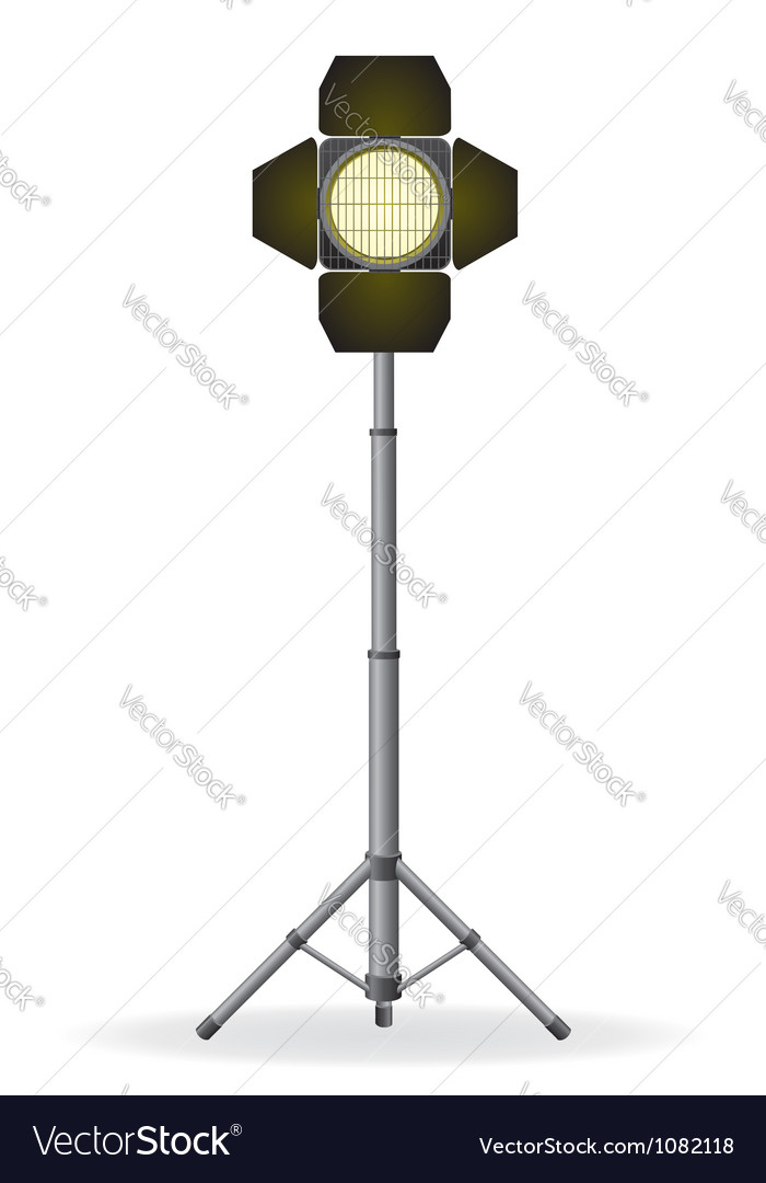 Movie floodlight vector | Price: 1 Credit (USD $1)