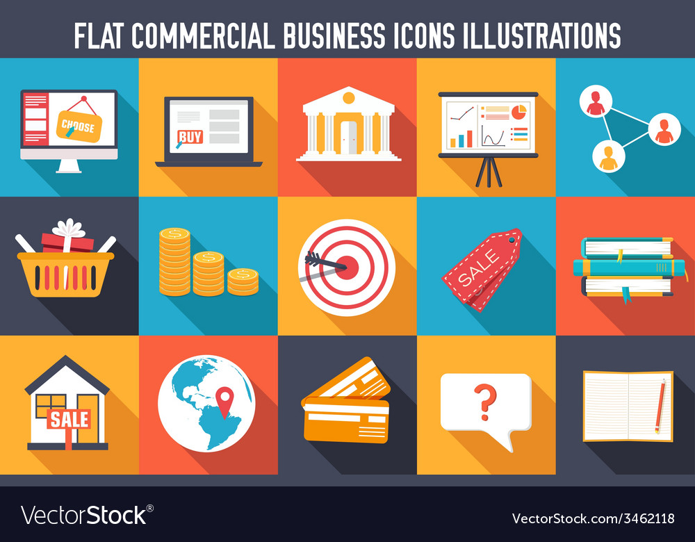 Set of flat communication concepts  backgro vector | Price: 1 Credit (USD $1)