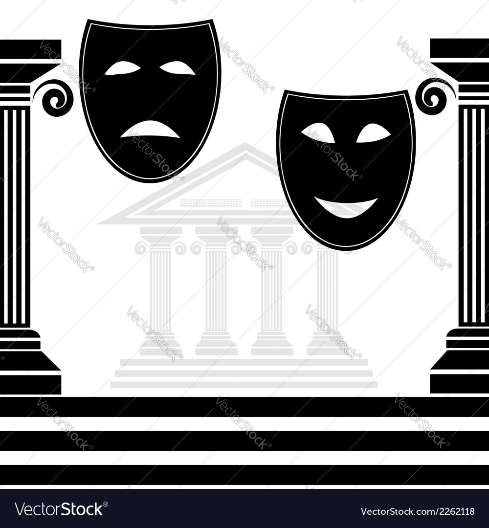 Silhouettes of masks vector | Price: 1 Credit (USD $1)