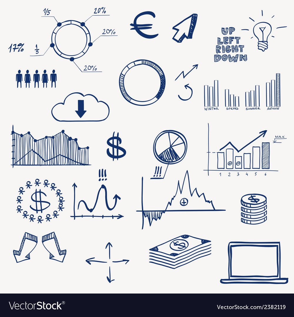 Business finance management infographics social vector | Price: 1 Credit (USD $1)