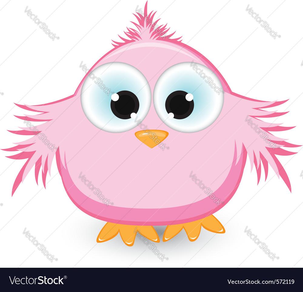 Cartoon pink sparrow vector | Price: 1 Credit (USD $1)