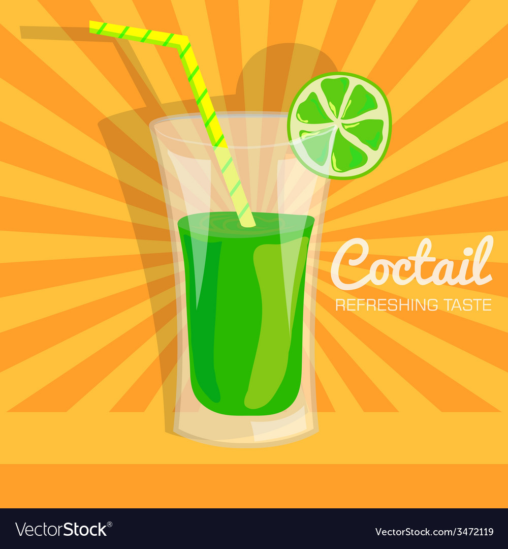 Colorful coctail background concept vector | Price: 1 Credit (USD $1)