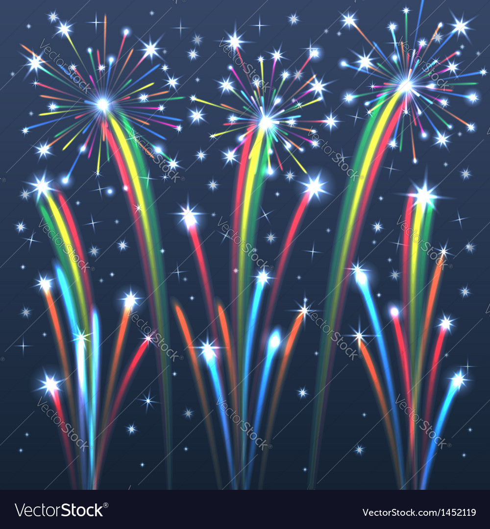 Fireworks colorful 2 vector | Price: 1 Credit (USD $1)