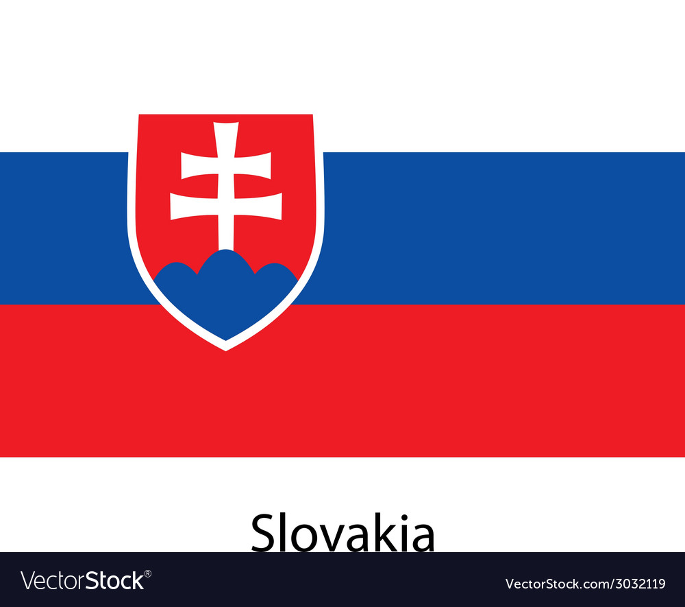 Flag of the country slovakia vector | Price: 1 Credit (USD $1)