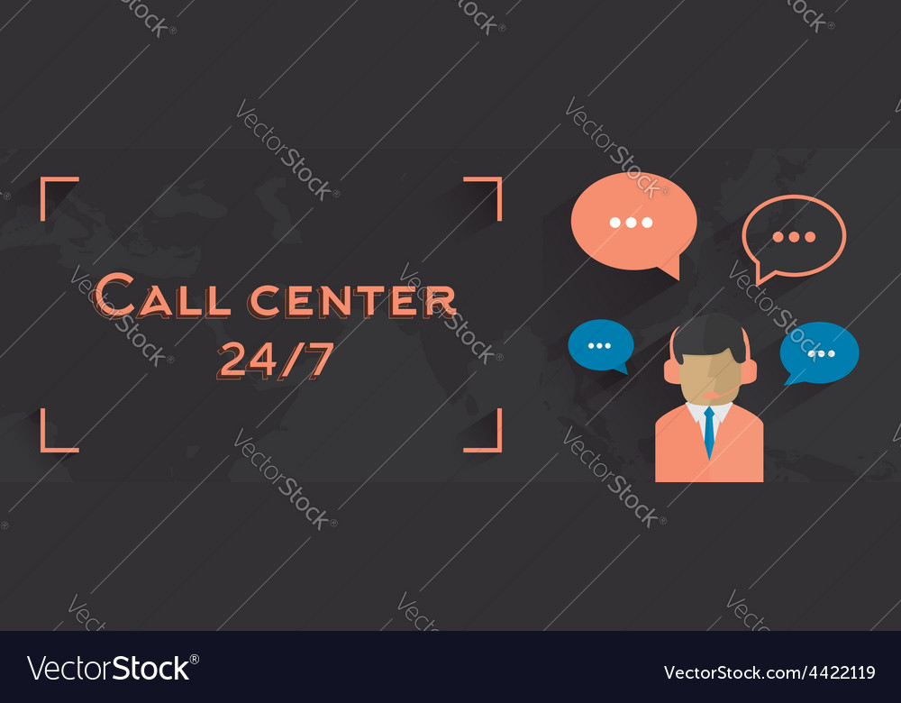 Male call center avatar man vector | Price: 1 Credit (USD $1)