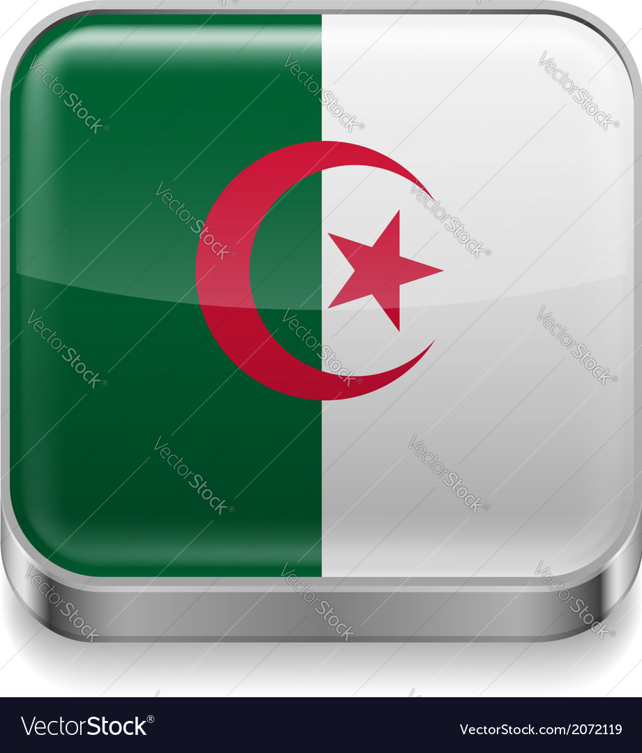 Metal icon of algeria vector | Price: 1 Credit (USD $1)