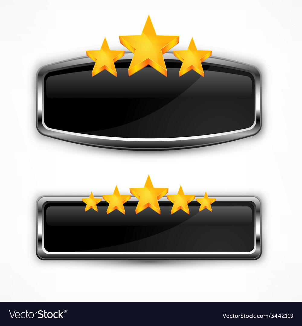 Metallic icon with stars vector | Price: 1 Credit (USD $1)