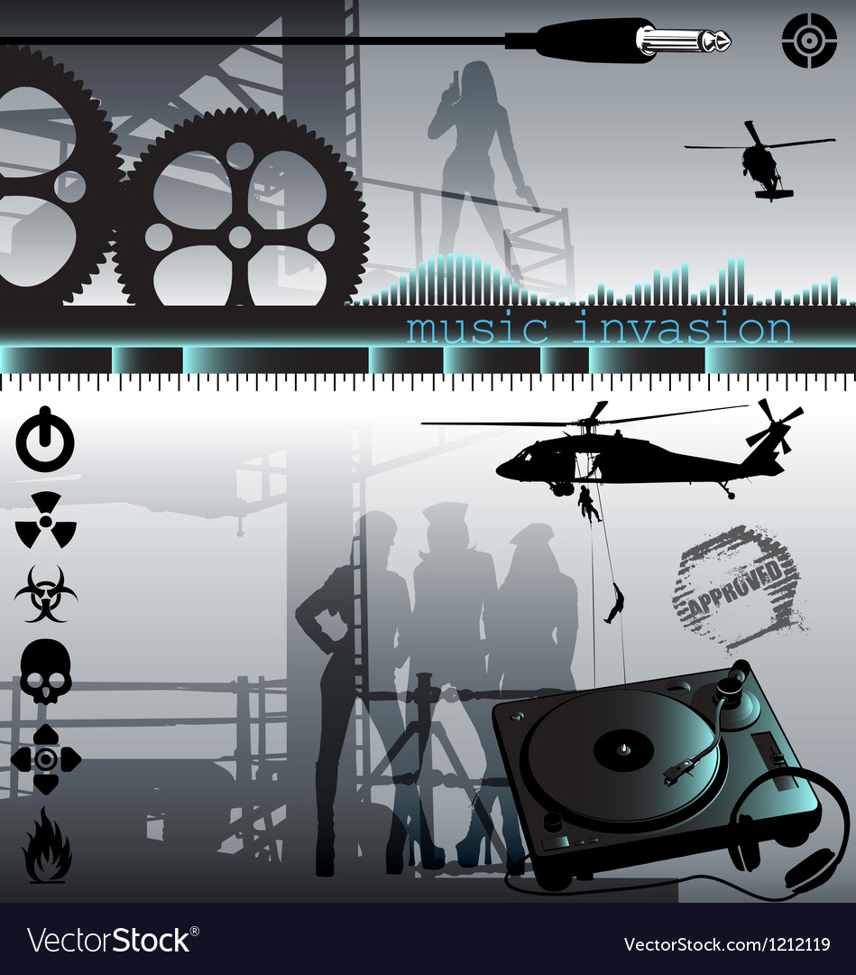 Music invasion vector | Price: 3 Credit (USD $3)