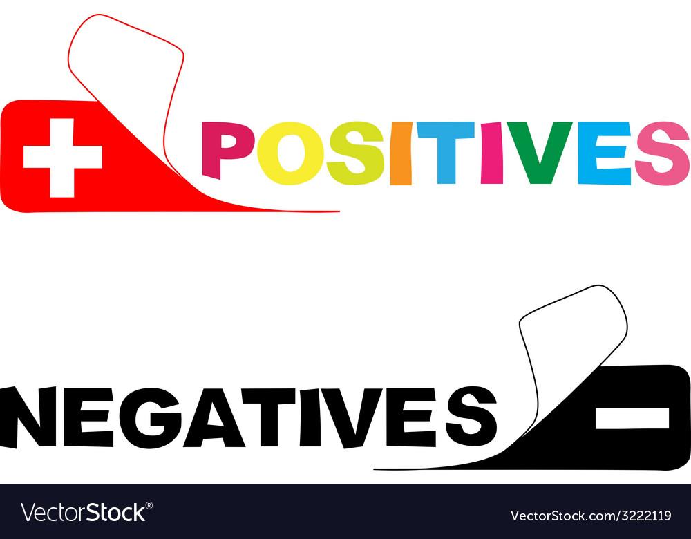 Positive negative vector | Price: 1 Credit (USD $1)