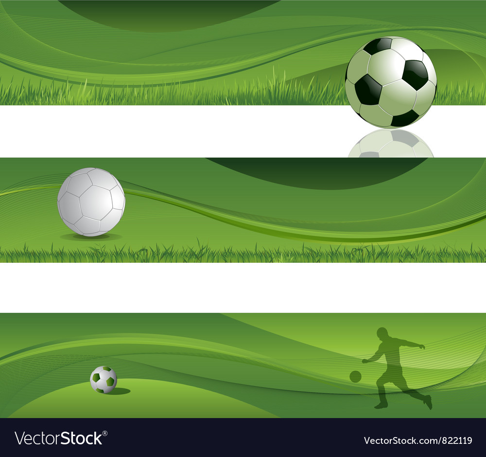 Soccer design banners vector | Price: 1 Credit (USD $1)