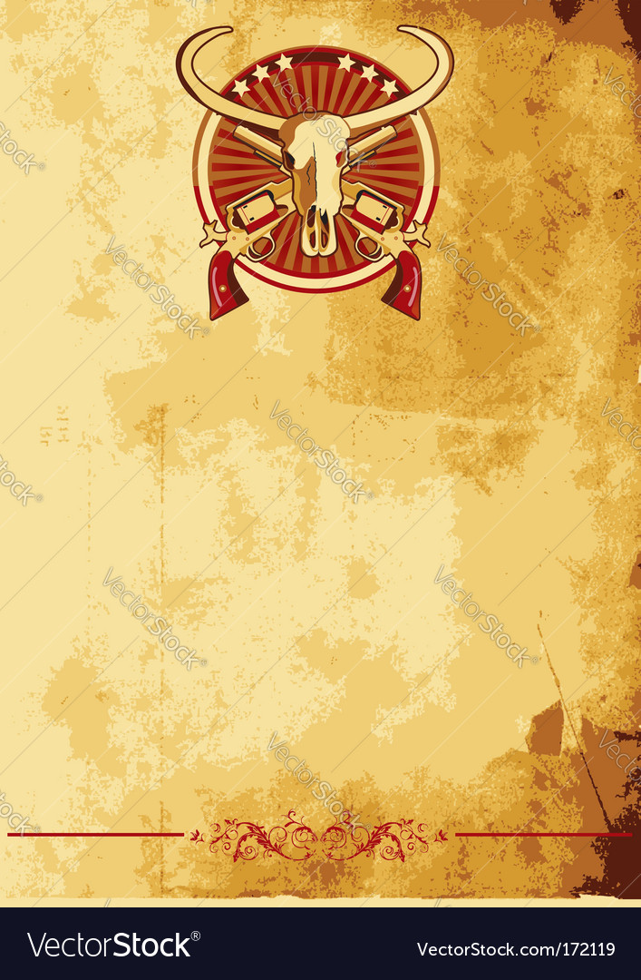 Wild west poster ii vector | Price: 1 Credit (USD $1)