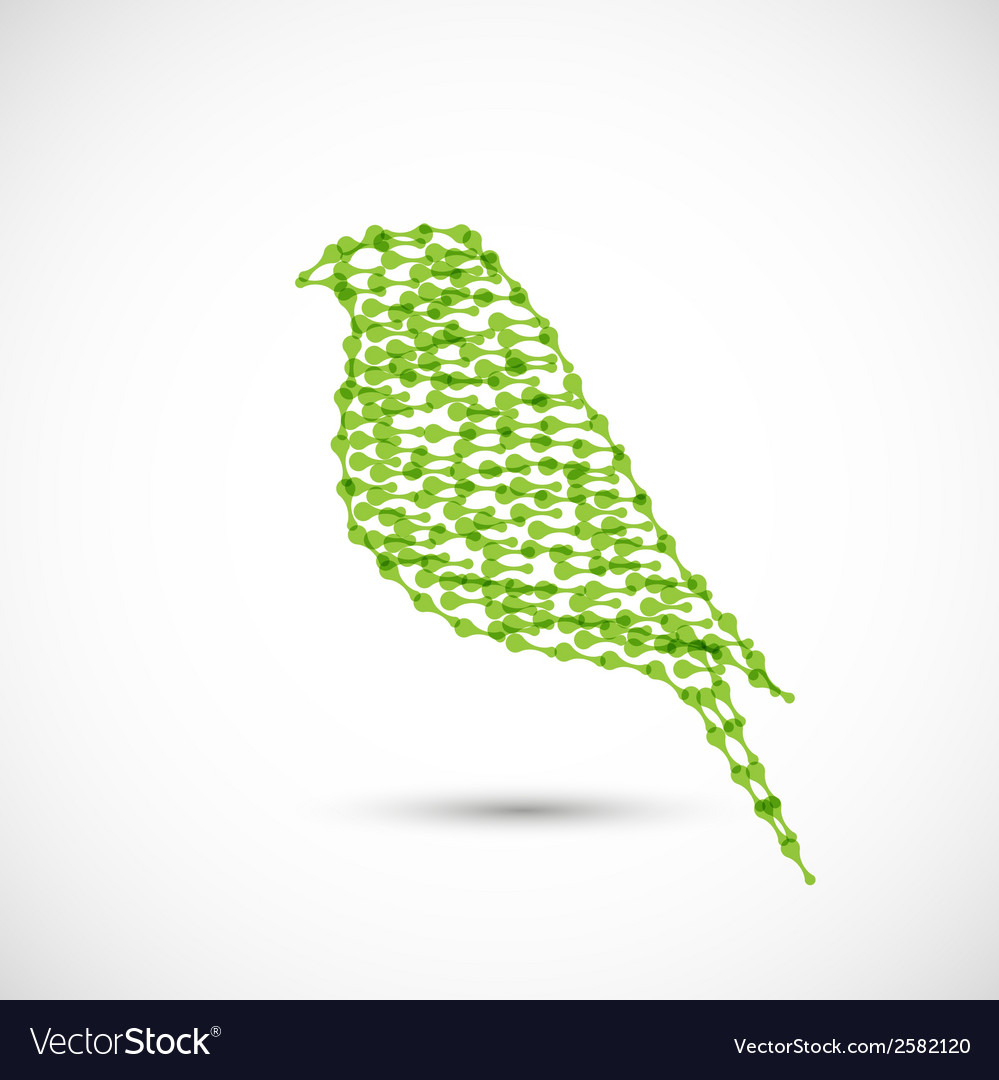 Beautiful flat silhouette of the bird vector   Price: 1 Credit (USD $1)