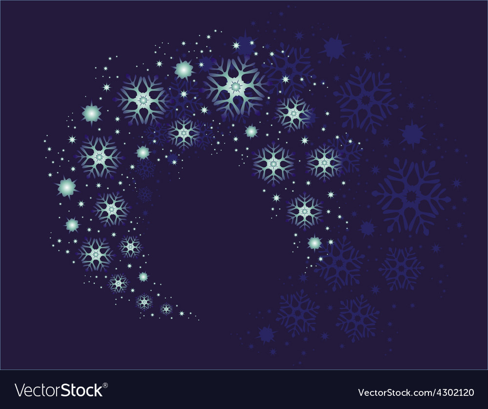 Christmas snowflakes swirling in a storm in the vector | Price: 1 Credit (USD $1)