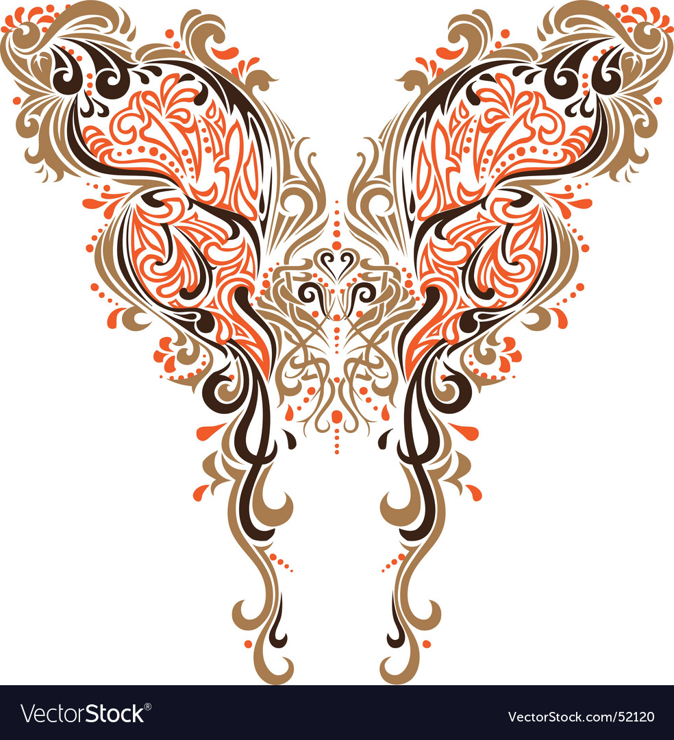 Collar butterfly design vector | Price: 1 Credit (USD $1)