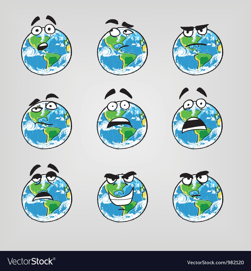 Earth emotions-part 2 vector | Price: 1 Credit (USD $1)