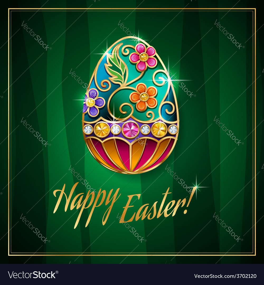 Easter egg green vector | Price: 1 Credit (USD $1)