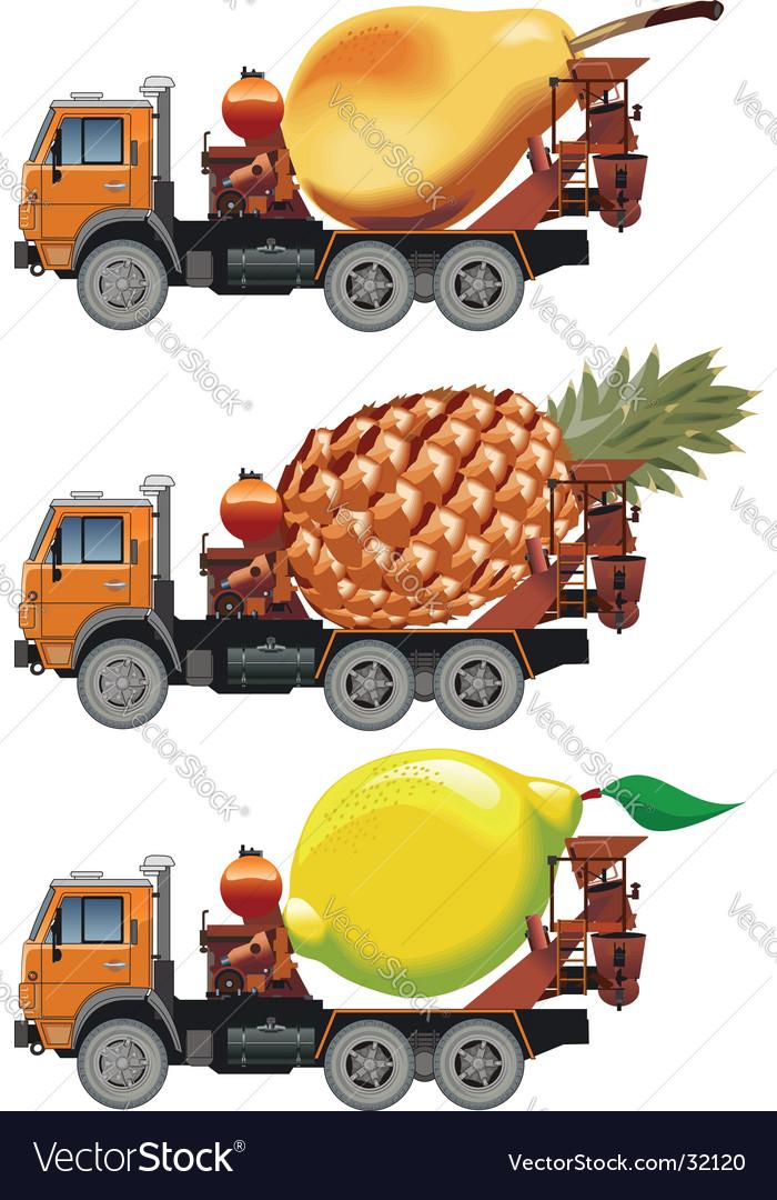 Fruit truck vector | Price: 3 Credit (USD $3)