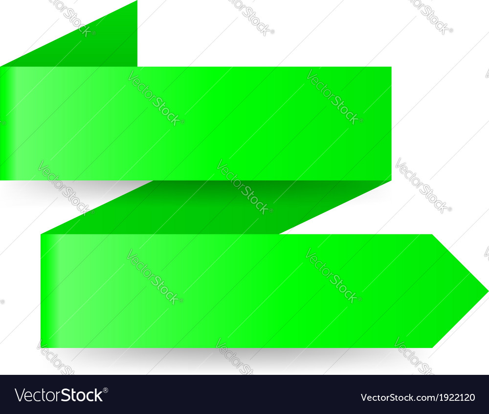 Green paper arrow vector | Price: 1 Credit (USD $1)