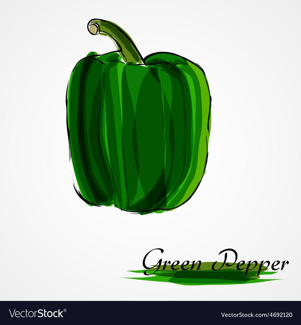 Green pepper vector | Price: 1 Credit (USD $1)