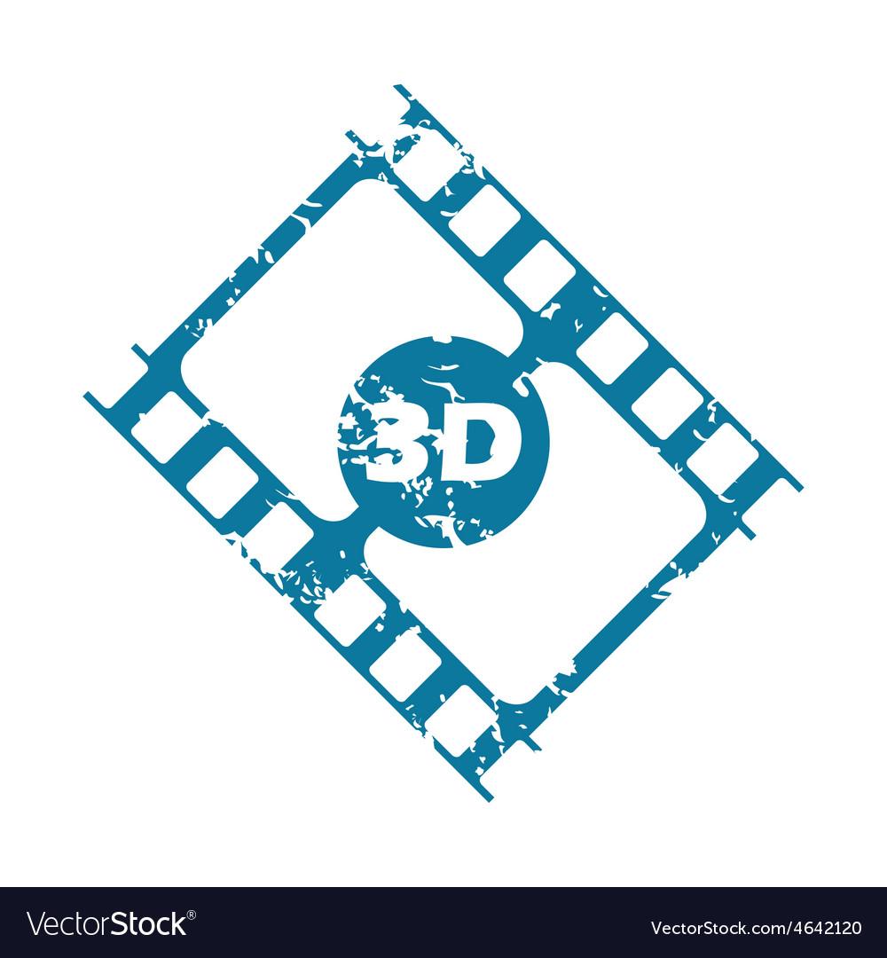 Grunge 3d strip icon vector | Price: 1 Credit (USD $1)