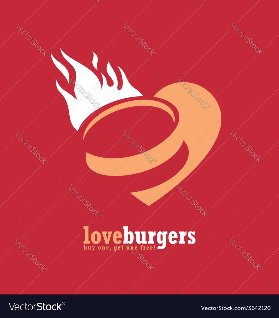 Minimalistic ad design for fast food restaurant vector | Price: 1 Credit (USD $1)