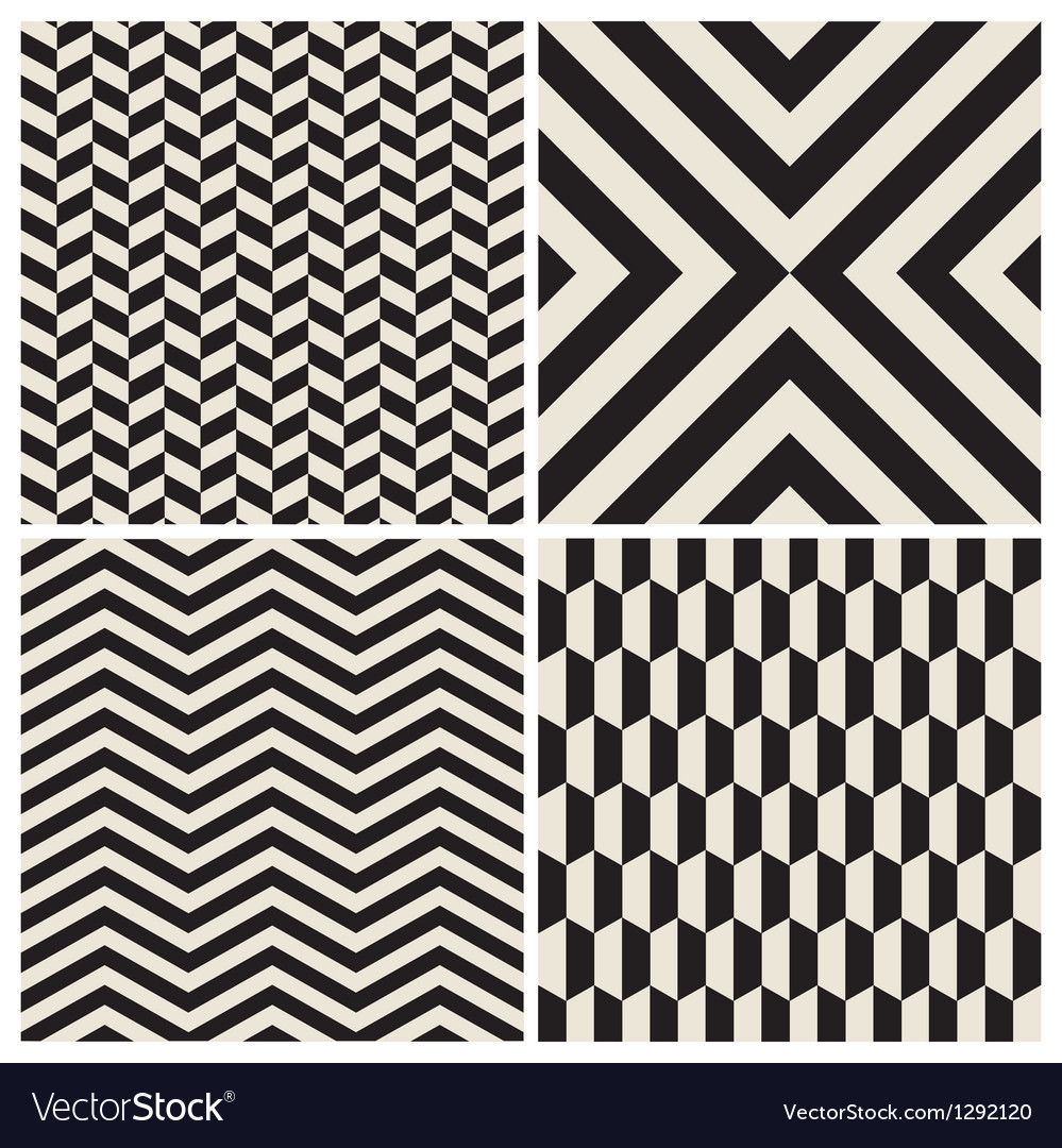 Pattern background set retro vintage design vector | Price: 1 Credit (USD $1)