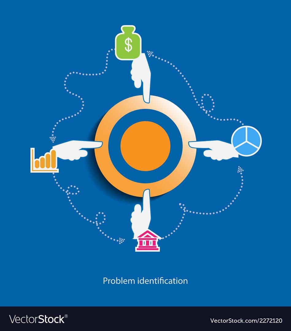 Problem identification flat design concept vector | Price: 1 Credit (USD $1)