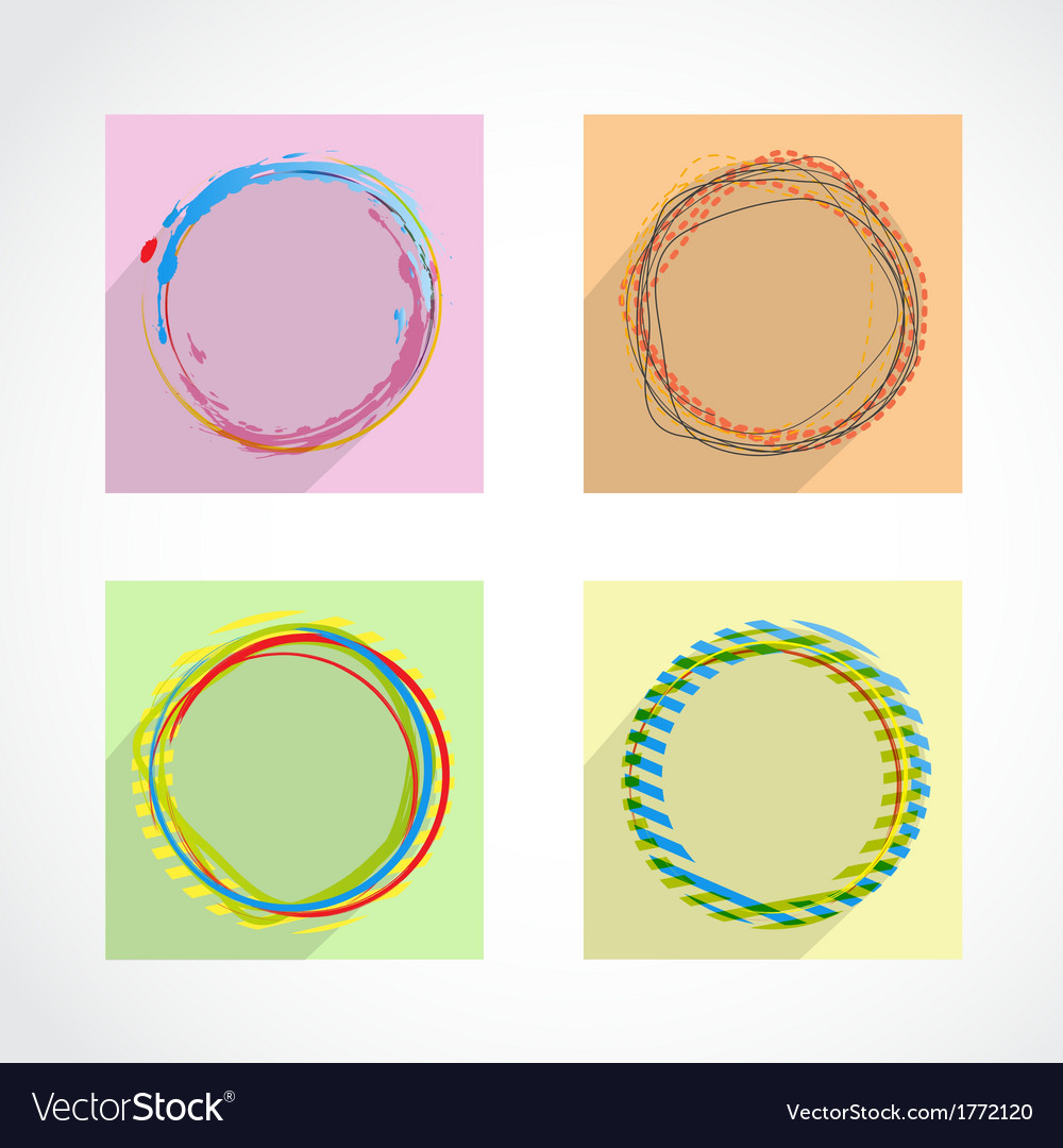 Set of abstract circles background vector | Price: 1 Credit (USD $1)
