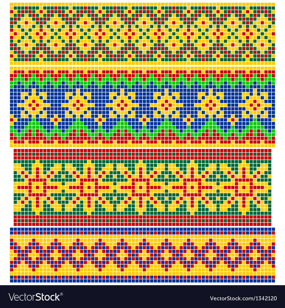 Set of old russian patterns vector | Price: 1 Credit (USD $1)