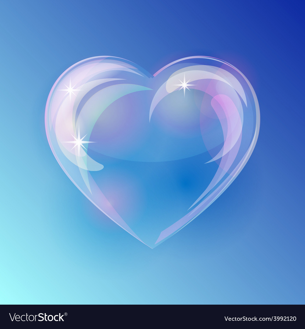 Shiny bubble heart vector | Price: 1 Credit (USD $1)