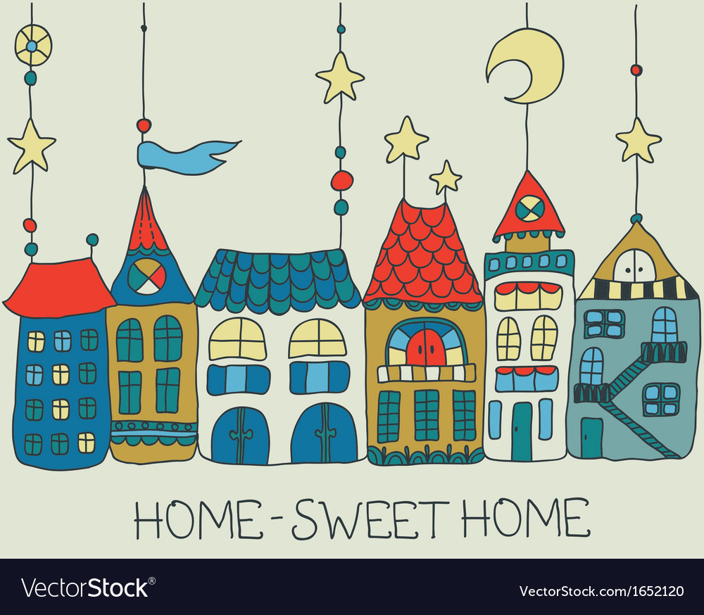 Sweet home background vector | Price: 1 Credit (USD $1)