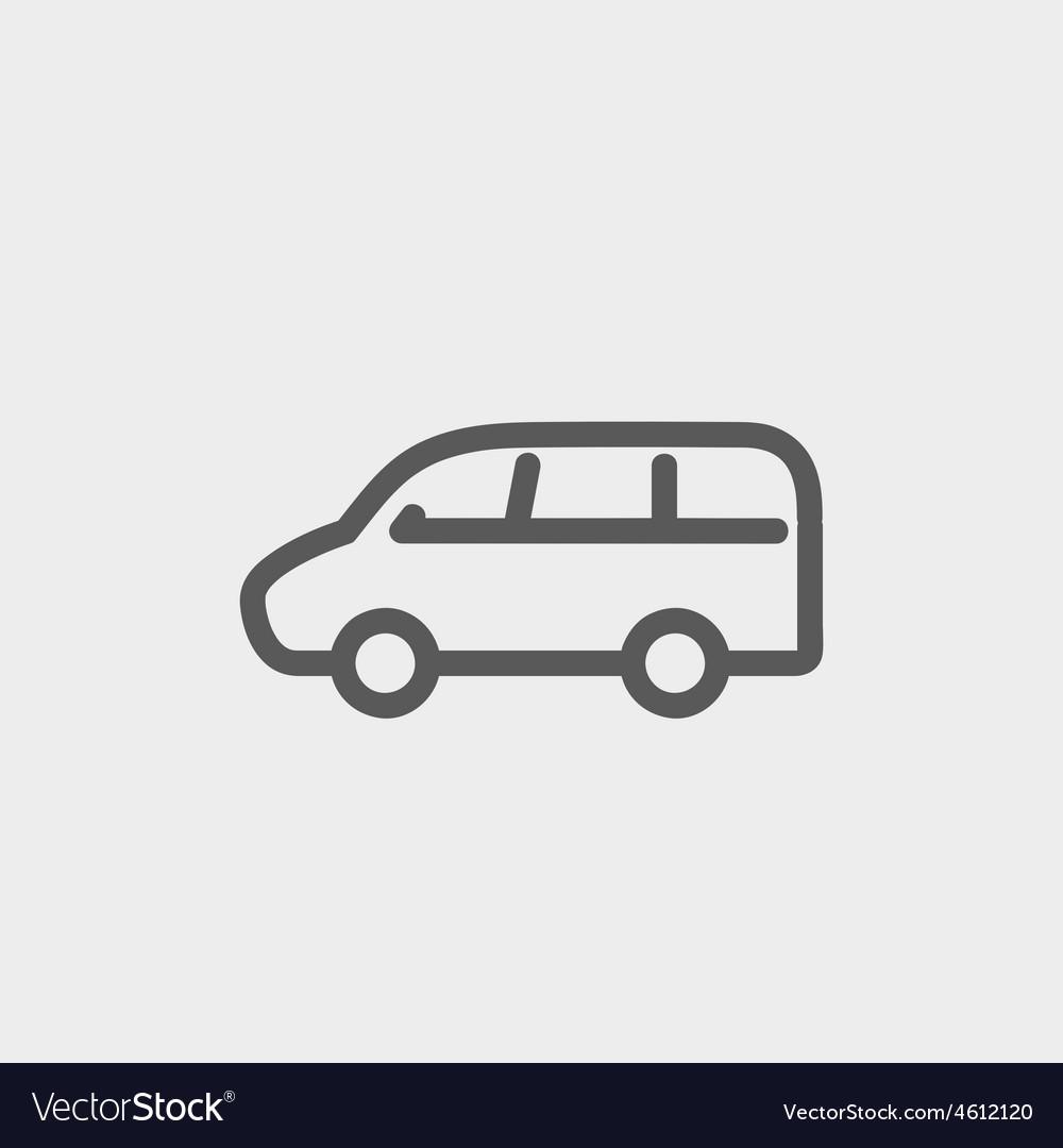 Van transport thin line icon vector | Price: 1 Credit (USD $1)