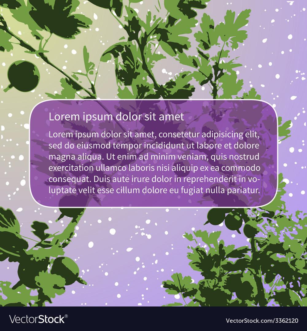 Violet gooseberry vector | Price: 1 Credit (USD $1)