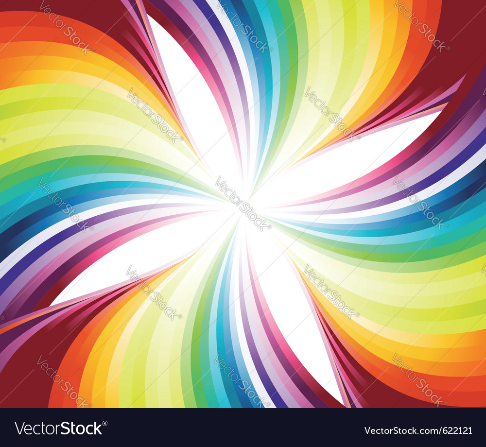 Abstract flowing rainbow vector | Price: 1 Credit (USD $1)