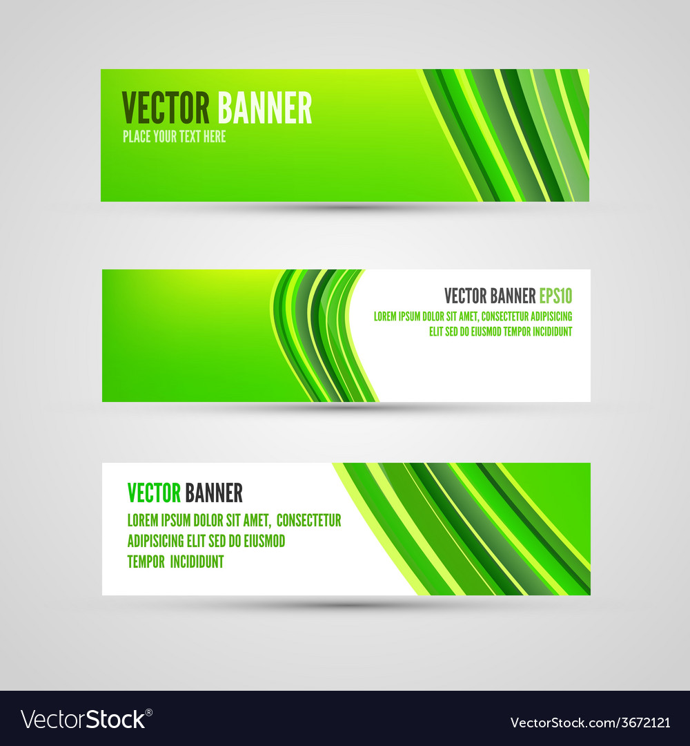 Banners green lines vector | Price: 1 Credit (USD $1)