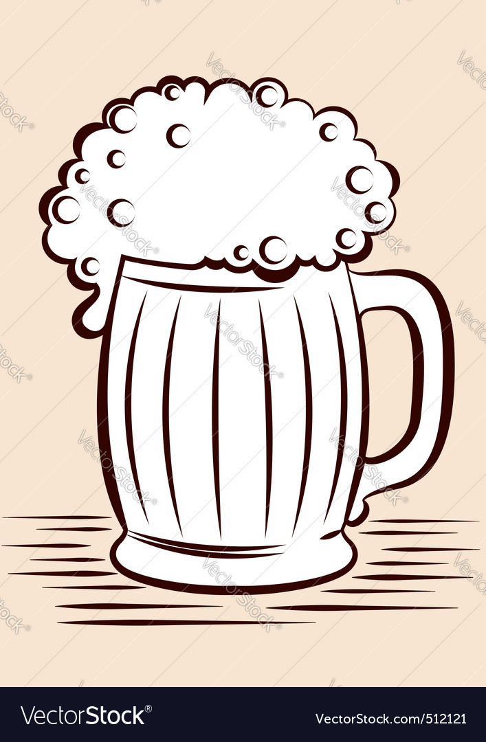 Cartoon beer glass vector | Price: 1 Credit (USD $1)