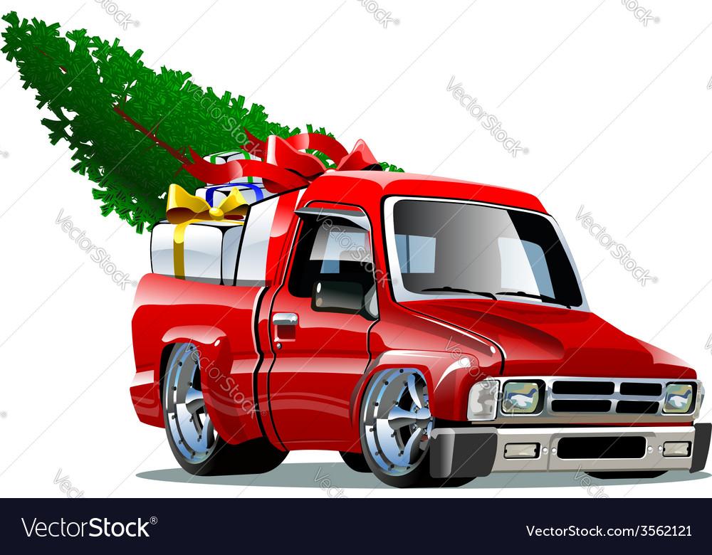 Cartoon christmas pickup vector | Price: 3 Credit (USD $3)
