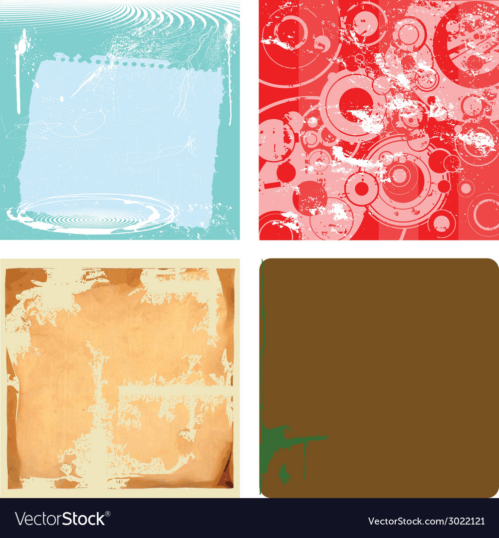 Collection of grunge backgrounds vector | Price: 1 Credit (USD $1)