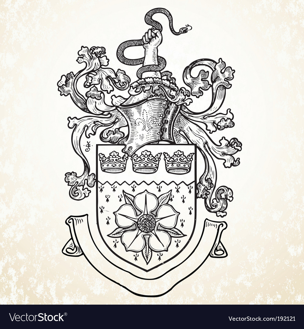 Knight helmet and crest vector | Price: 1 Credit (USD $1)