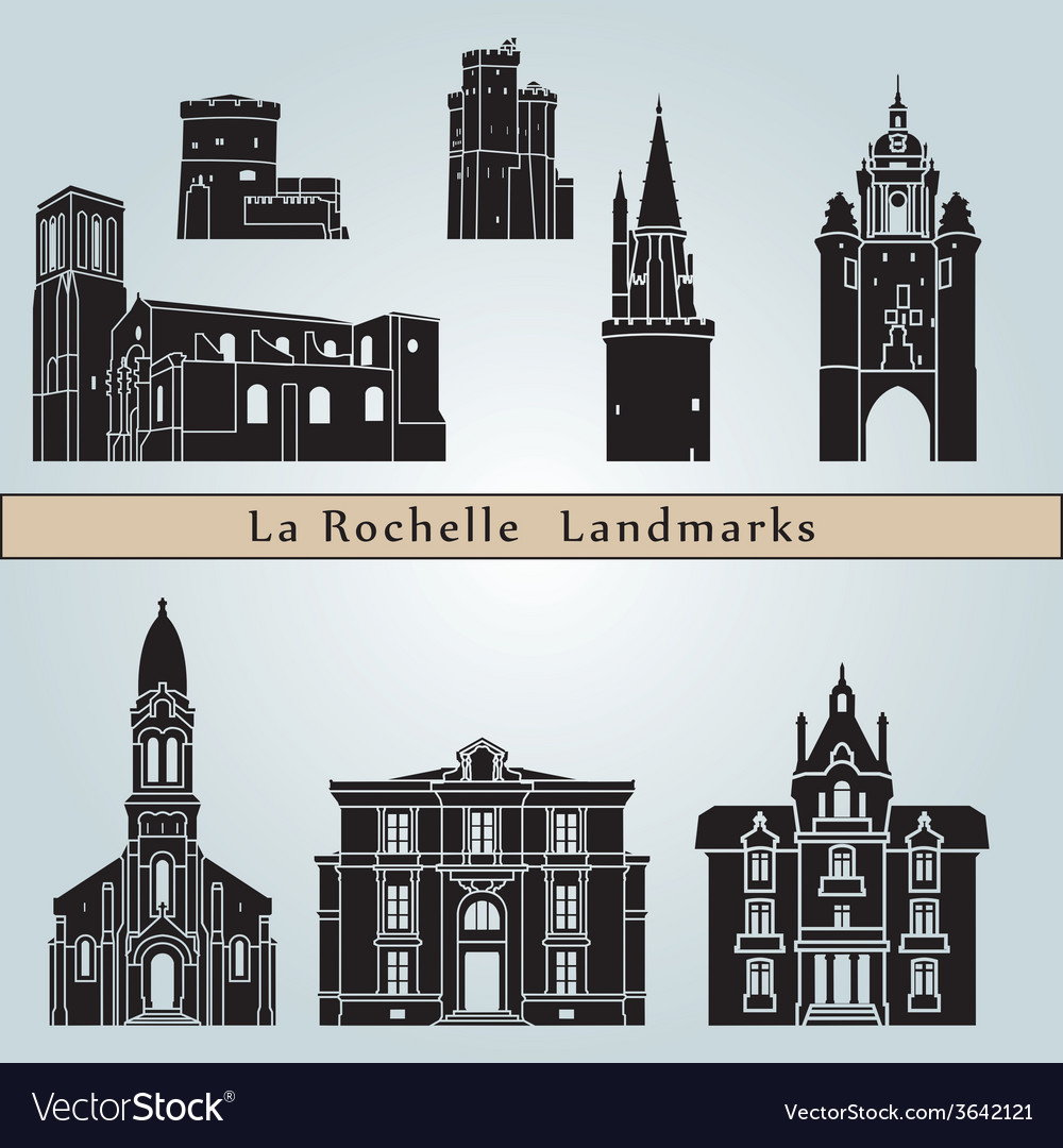 La rochelle landmarks and monuments vector | Price: 1 Credit (USD $1)