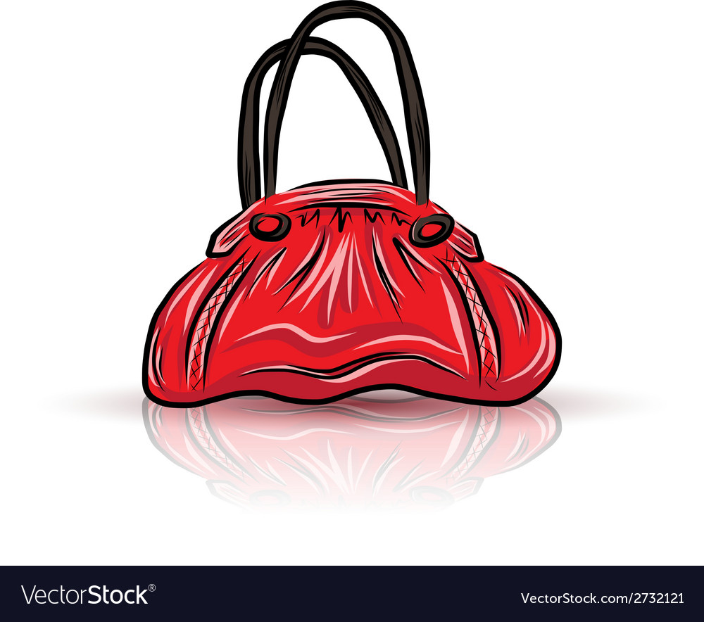 Red sad bag vector | Price: 1 Credit (USD $1)