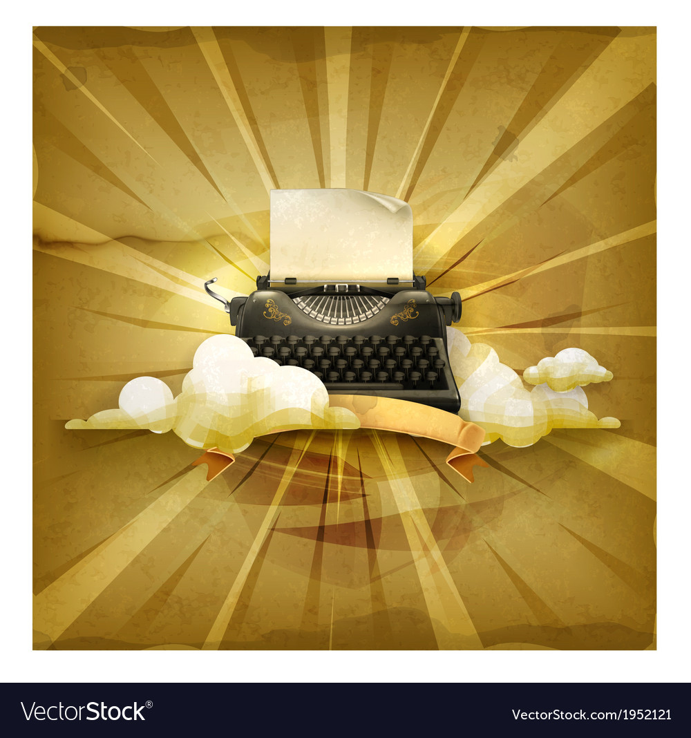 Typewriter old style background vector | Price: 3 Credit (USD $3)