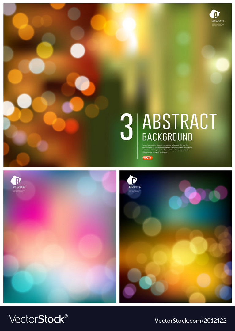 Abstract bokeh three collections background vector | Price: 1 Credit (USD $1)