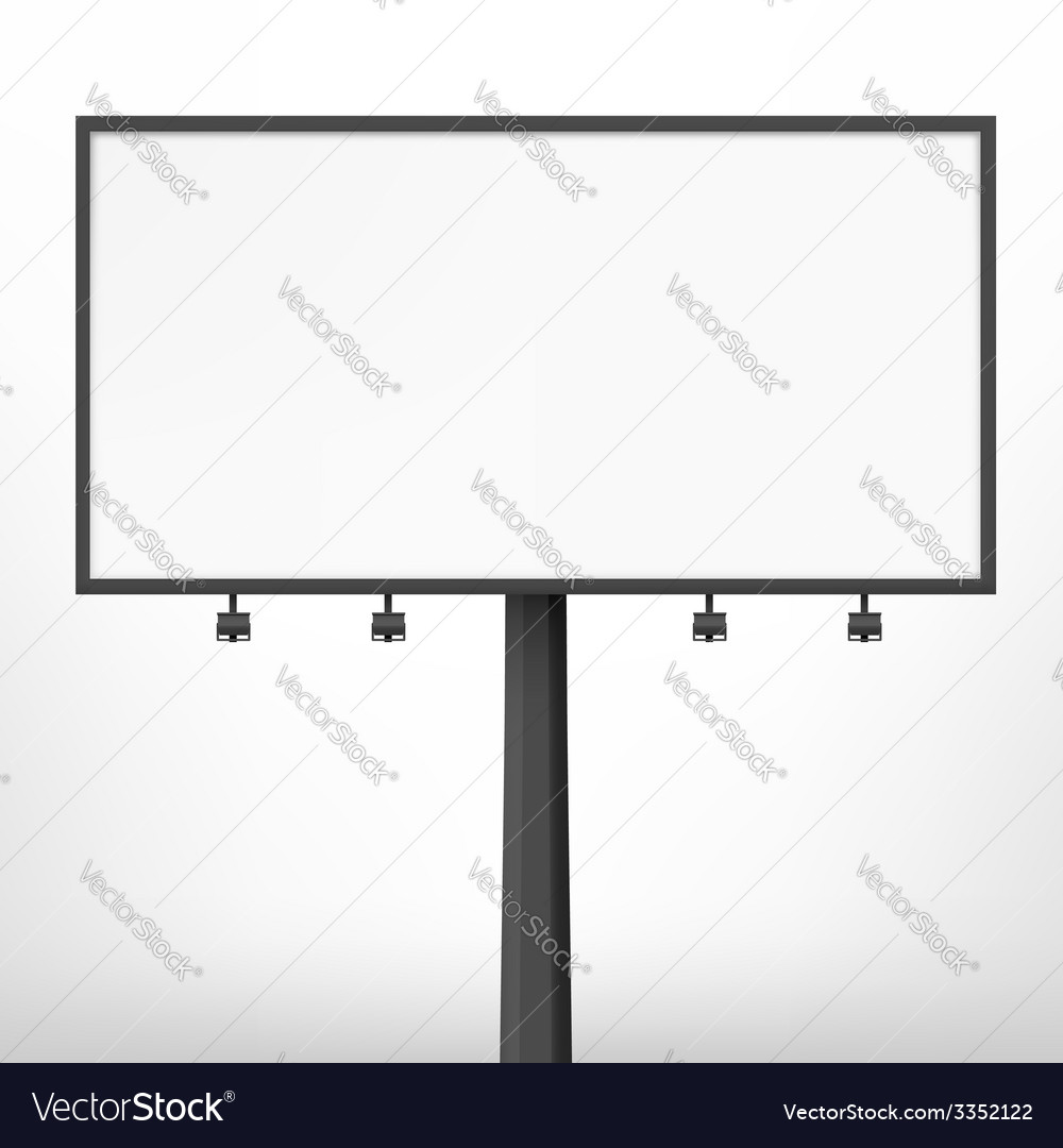Blank black billboard vector | Price: 1 Credit (USD $1)