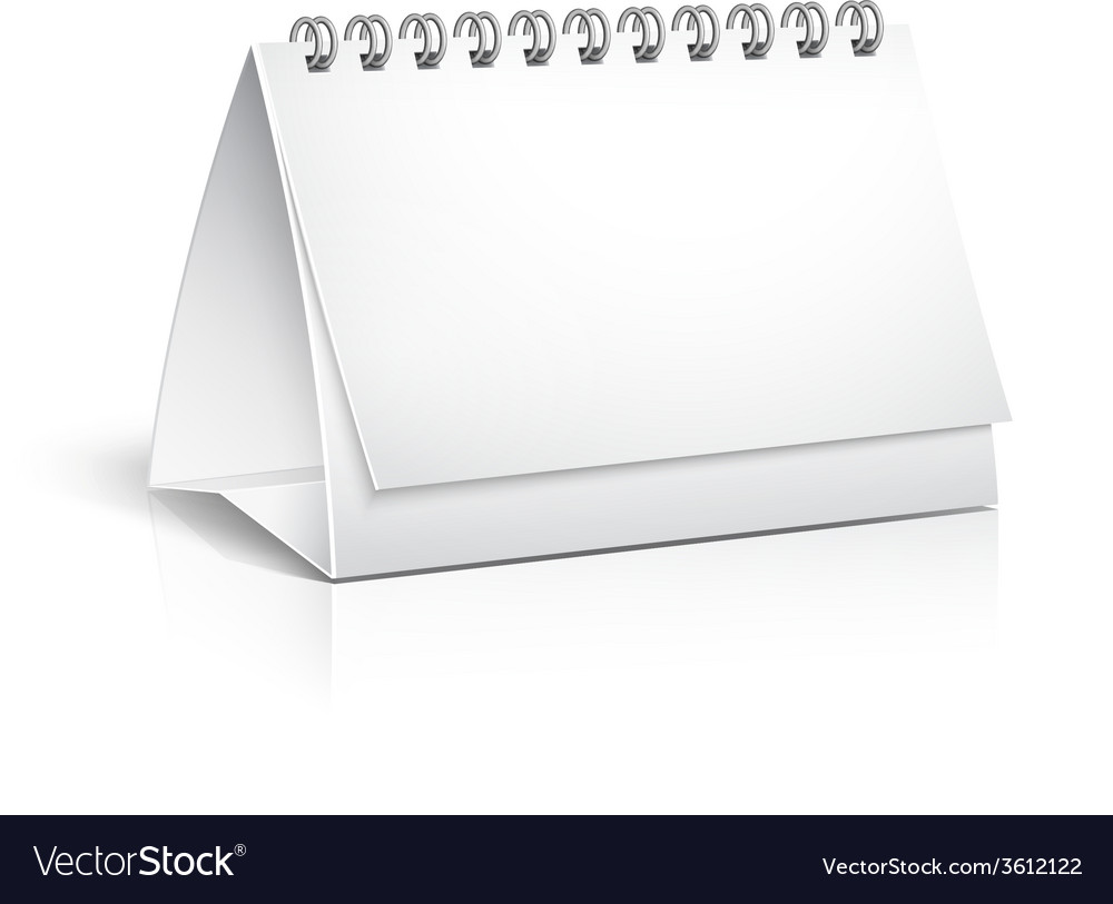 Blank spiral desktop calendar vector | Price: 1 Credit (USD $1)